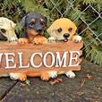Dog Lover Mixed Lot Flowerpot Plant Climber Welcome Wall Plaque 3PC NEW