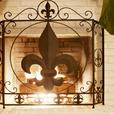 Stylish Chic French Flourish Fleur-De-Lis Fireplace Screen NEW