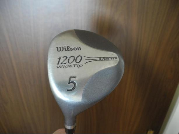 Wilson 1200 Wide Tip Oversize LH #5 wood steelshaft leather grip