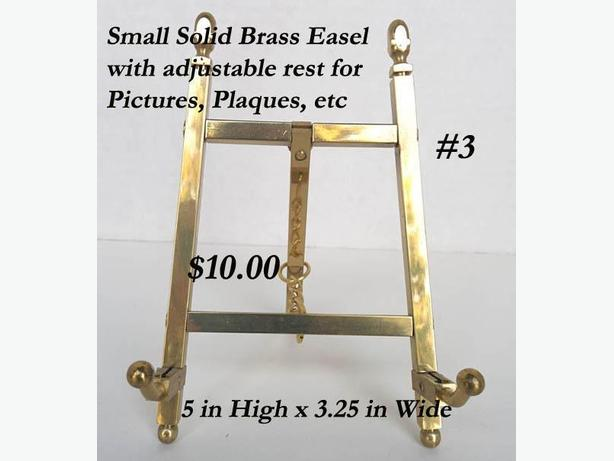 Solid Brass Easel with Adjustable Rest