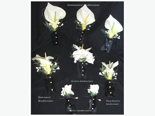 17 PIECE WEDDING FLOWER SET