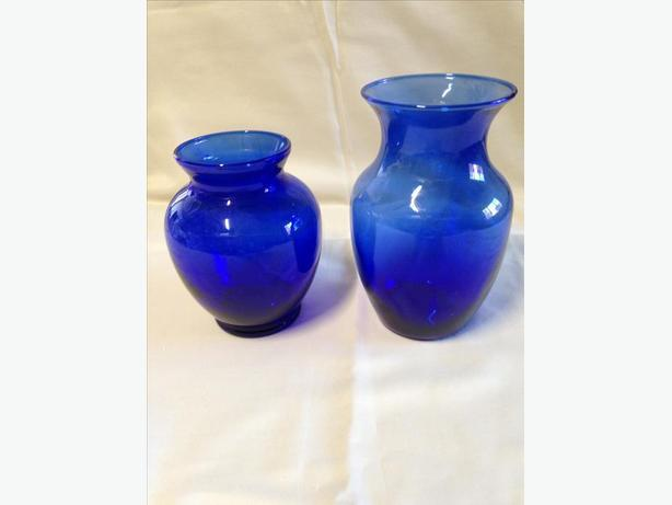 Vintage Cobalt Blue Vases West Shore Langfordcolwoodmetchosin