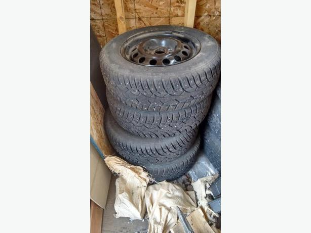 Studded winter tires - 185/70R-14 - OBO - Honda Fit or similar
