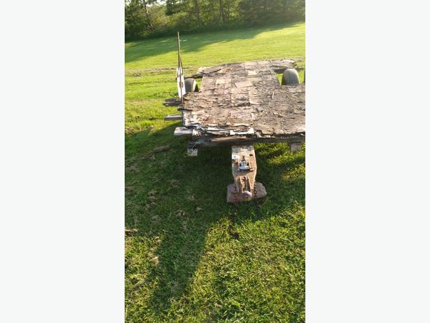 Old trailer frame