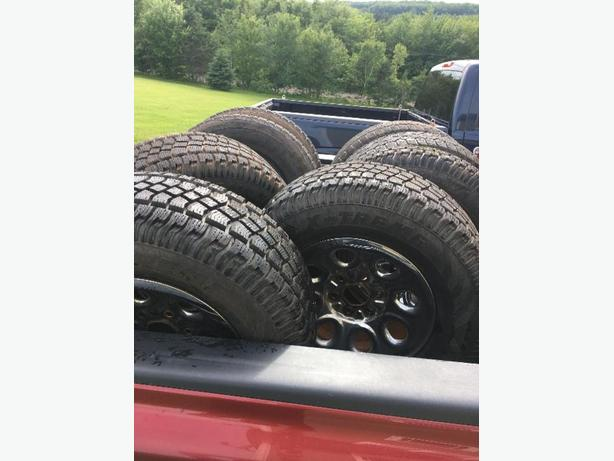 gmc facory wheels with winter tires