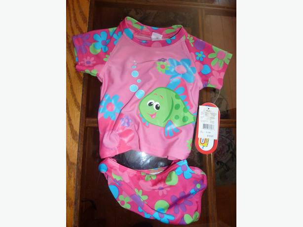 NEW Little Tikes GIRLS 2 piece sleeve top bathing suit