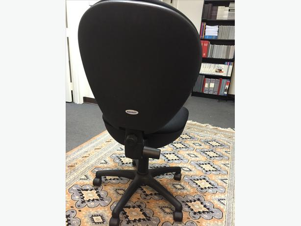 8 Blk Fabric Office Chairs (Can Be Sold Separately or as Group)