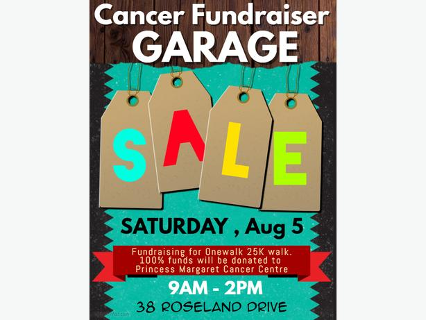 CANCER FUNDRAISER GARAGE SALE  38 Roseland Dr, Etobicoke, ON M8W 1Y2