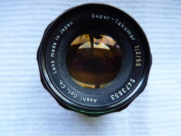 Asahi Pentax Super-Takumar 55mm f2 film camera lens