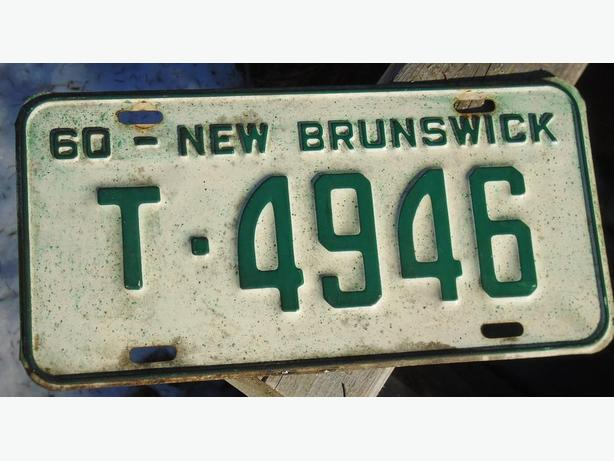 "VINTAGE NEW BRUNSWICK LICENSE PLATE CIRCA 1960 ""T-4946"