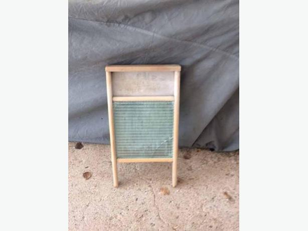 2 Vintage washboard