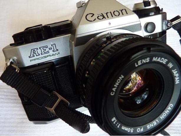 Excellent Canon AE-1 Program 35mm film camera, 1980 LA Olympics