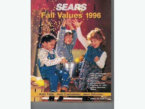 Sears Catalogue - Fall Values 1996