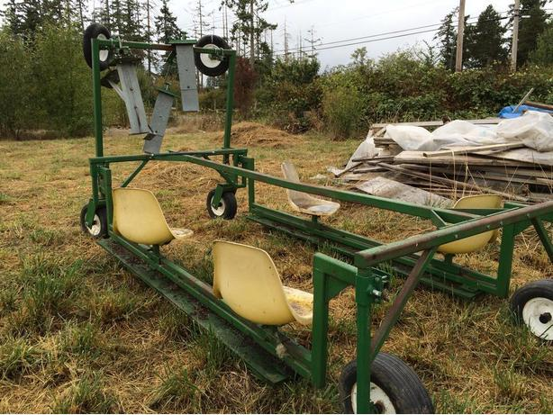 4-crew transplanting/harvest rig