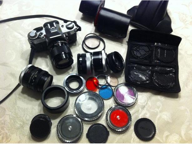 canon AE-1 camera & lens