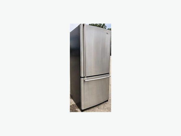 Stainless LG Bottom Freezer Fridge