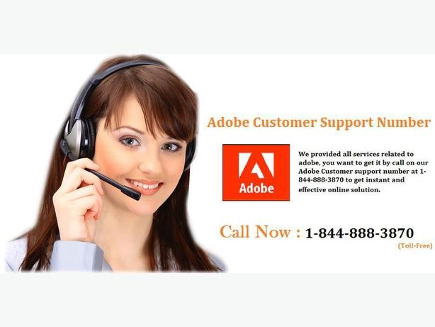 Get Adobe Customer Support number at  1-844-888-3870