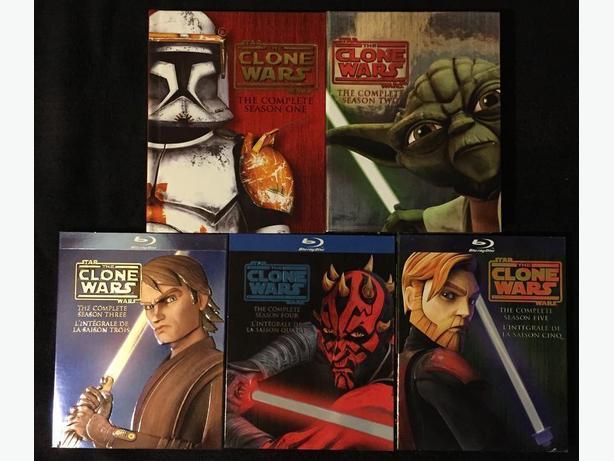 Star Wars Clone Wars seasons 1-5 on bluray