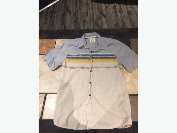 3RD & Army Boys Short Sleeved Dress Shirt For Sale