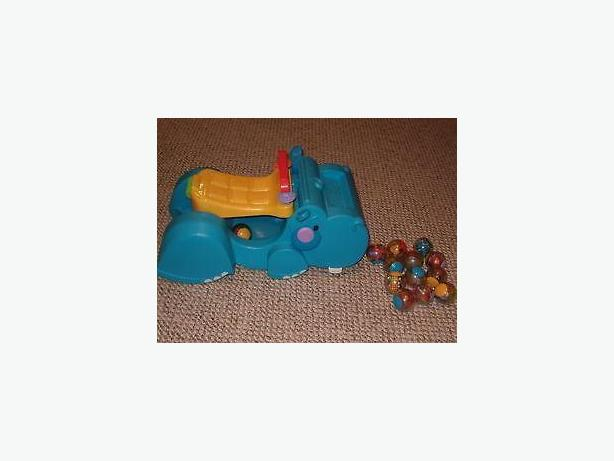 fisher price gobble n go hippo ride along push walker-