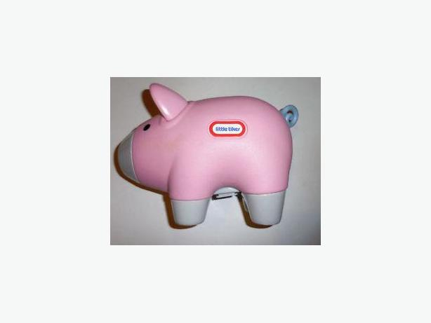 Little Tikes Pink Hard Plastic Embossed Logo Piggy Money Bank