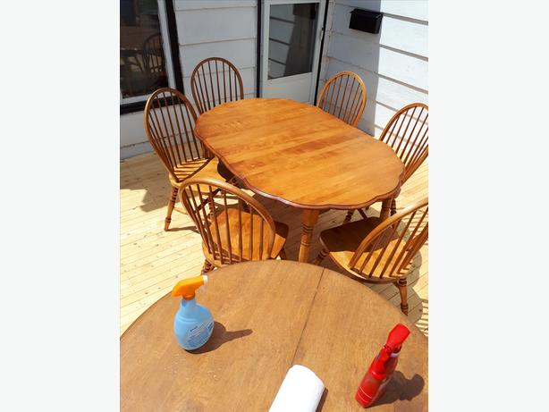 Table & 6 Chairs - $250