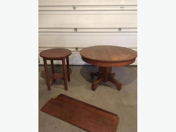 dining table and side table