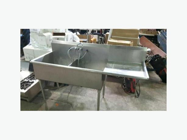 Stainless steel double sink with extension !SAVE!