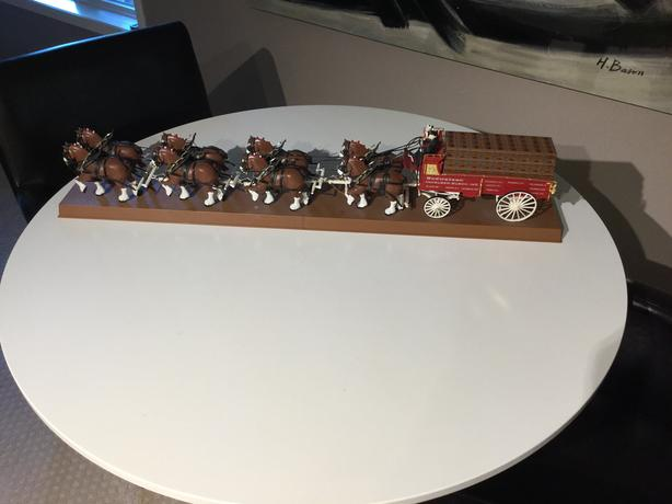 Budweiser Wagon and Clydesdale Team