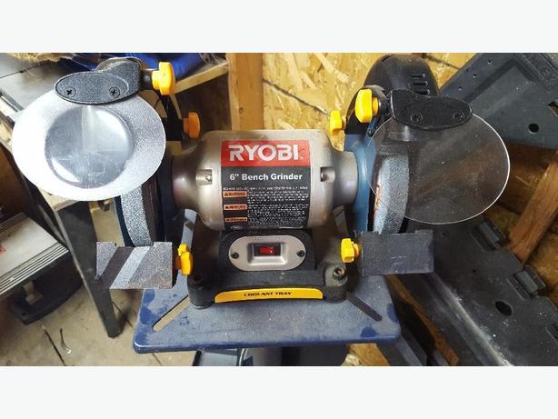 "Ryobi BGH616 6"" bench grider with stand"