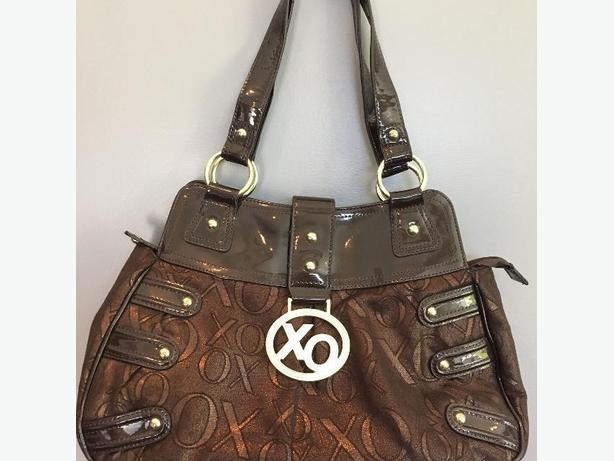 XOXO Brown Zippered Top Purse