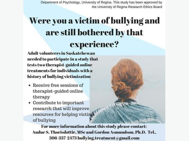 FREE: Online Therapy for Past Victims of Bullying