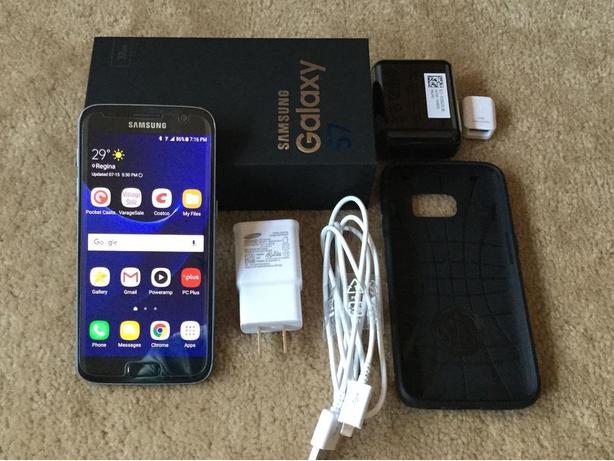 Samsung S7, mint, 64gb SD card, new case and screen protector