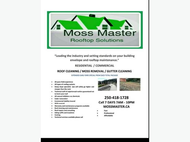 Monday Madness! Moss Removal Roof and Gutter Cleaning Monday $395 or less!