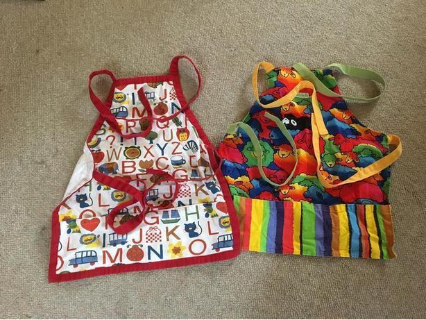 pair of children's aprons
