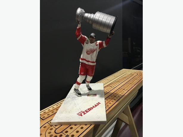 Steve Yzerman figurine by McFarlane it is 12""