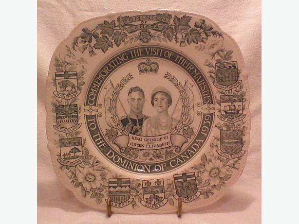 Maddock & Sons 1939 Canada royal visit commemorative plate