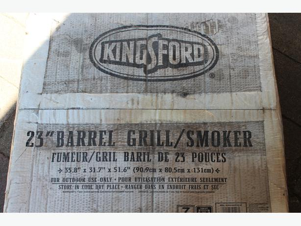 "New 23"" Barrel Grill/Smoker"