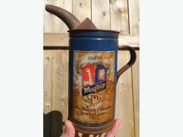 VINTAGE 1940's MAYTAG MIX N' POUR CAN - THE MAYTAG COMPANY