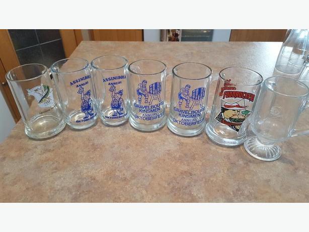 7 Assorted Glass Mugs