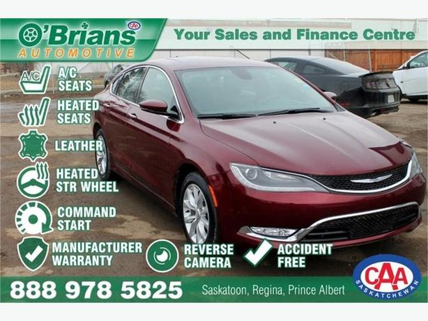 2015 Chrysler 200 C - Accident Free! w/Mfg Warranty, Leather