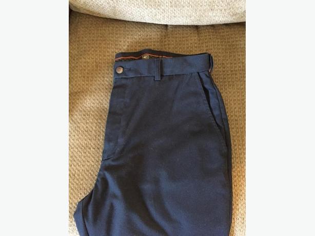Boys or Men's navy Haggar pants. Size 34x32.