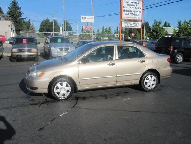 2005 TOYOTA COROLLA 4 CYLINDER AUTOMATIC WITH AIR CONDITIONING