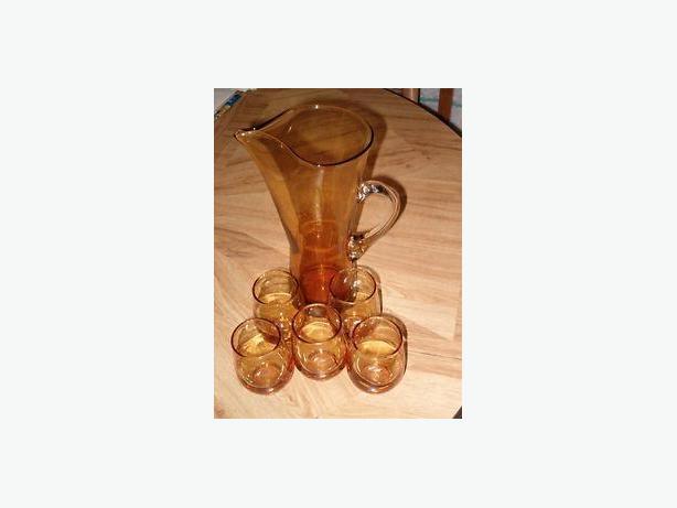 Italian style,harvest sun yellow orange (five) glasses set