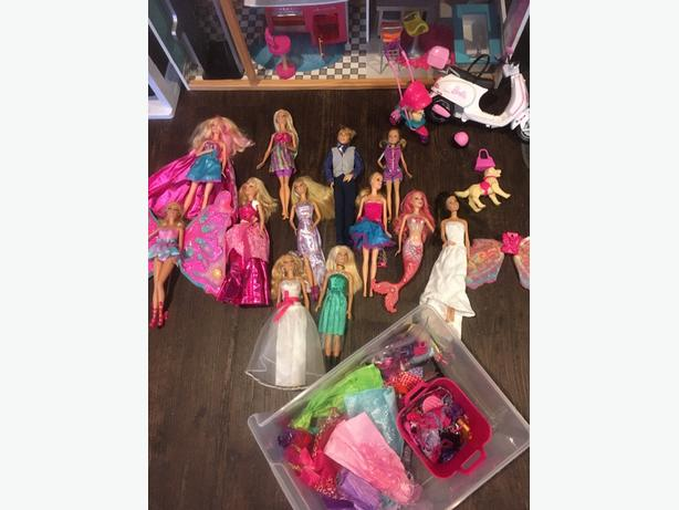 doll house and dolls with accessories