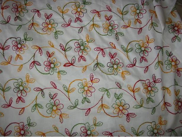 UNIQUE CUSTOM-MADE PAIR BRAND NEW EMBROIDERED CURTAINS
