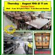 GIANT RESTAURANT FOOD EQUIPMENT AUCTION - THURSDAY, AUGUST 10th @ 11 am