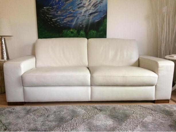 White Natuzzi Sofa