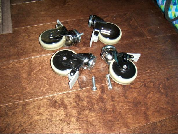 4 Heavy duty swivel wheels for crafts, carts, entertainment unit or cupboard