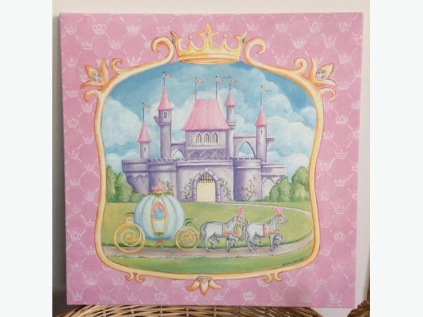 Girl's Princess Castle print